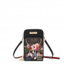 BOHEMIAN BLACK TOUCH SCREEN CELL PHONE CROSSBODY
