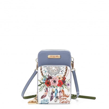BOHEMIAN WHITE TOUCH SCREEN CELL PHONE CROSSBODY