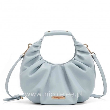 SOFT OVAL BASKET BAG BLUE