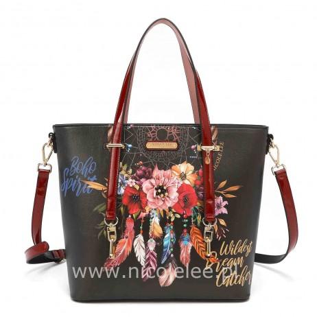 BOHEMIAN BLACK SHOPPER BAG