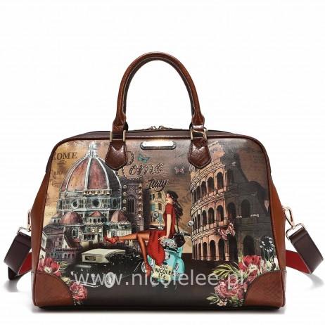 MEMORY OF ROME TRAVEL WEEKENDER BAG