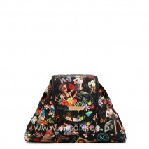 NICOLE LEE GIRLS BLACK COSMETIC POUCH
