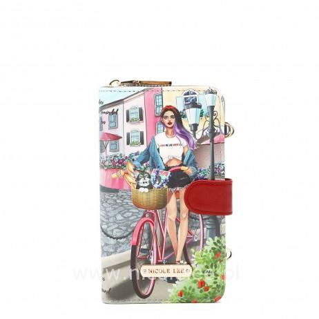 COZY STREET IN MILAN 2 PIECE PHONE CASE CROSSBODY WALLET