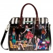 HOUSE PARTY PRINT SATCHEL BAG