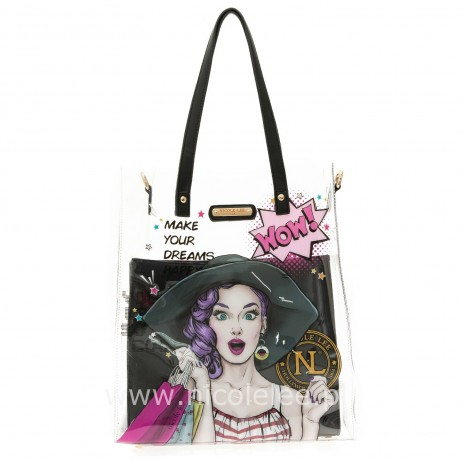 LUCY 2PC SET TRANSPARENT BAG