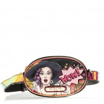 LUCY ROUND FANNY PACKS WITH METALLIC