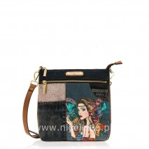 ANGELINA BOHEMIAN DENIM CROSSBODY