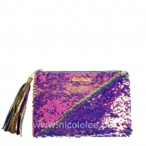 SEQUINS CLUTCH PURPLE