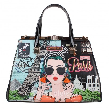 XOXO FROM PARIS FRAME SATCHEL BAG
