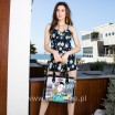 IVETTE POSES ON NY SUNSET BRIEFCASE BAG