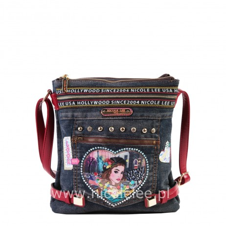 FASHION PRINT DENIM CROSSBODY BAG