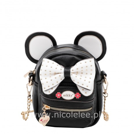BLACK MINI BOW SHOULDER BAG