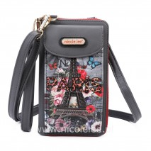 PARIS IN FALL CROSSBODY WALLET