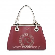 GOLDEN LOGO RED TOTE BAG