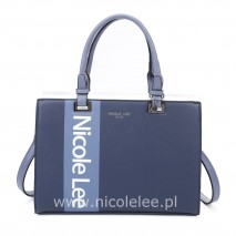 WHITE LOGO NAVY TOTE BAG