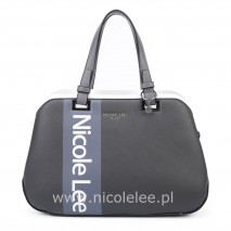 WHITE LOGO GREY BOSTON BAG