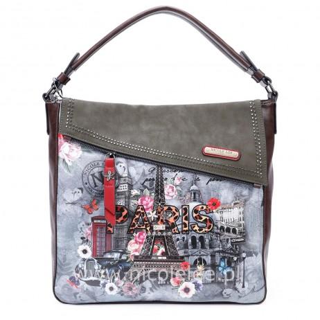 PARIS IN FALL SHOPPER BAG