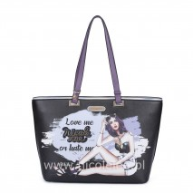 LOVE ME OR HATE ME SHOPPER BAG