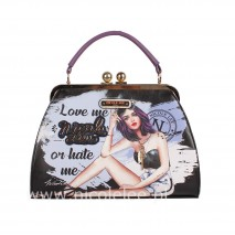 LOVE ME OR HATE ME FRAME BOSTON BAG