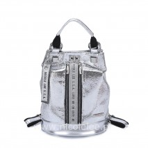 SILVER METALLIC GLAMOUR BACKPACK
