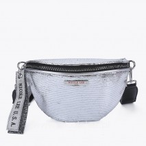 SILVER METALLIC FANNY PACK