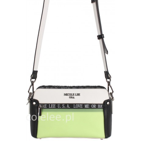 WHITE CLEAR LIME CROSSBODY BAG