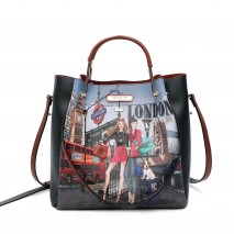 WOW IT'S LONDON 2PC SATCHEL BAG
