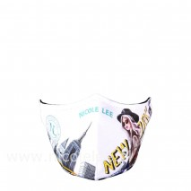 NEW YORK WALK WHITE FACE MASK