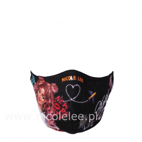NICOLE GIRLS BLACK FACE MASK