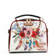 BOHEMIAN WHITE MESSENGER BAG