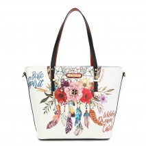 BOHEMIAN WHITE SHOPPER BAG