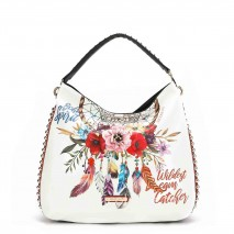 BOHEMIAN WHITE HOBO BAG