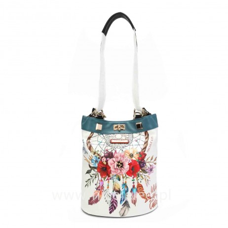 BOHEMIAN WHITE MULTIFUNCTIONAL BACKPACK